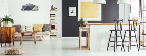Beispiel Einrichtung und Wandfarbe