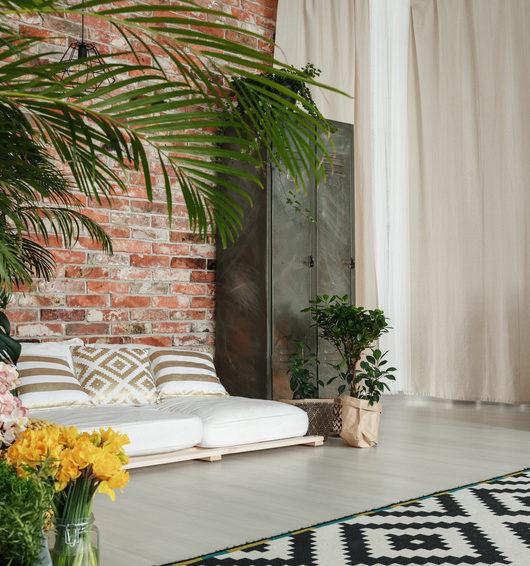 Wohnzimmer mit Grünpflanzen
