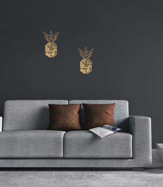 Wandsticker Ananas fürs Wohnzimmer