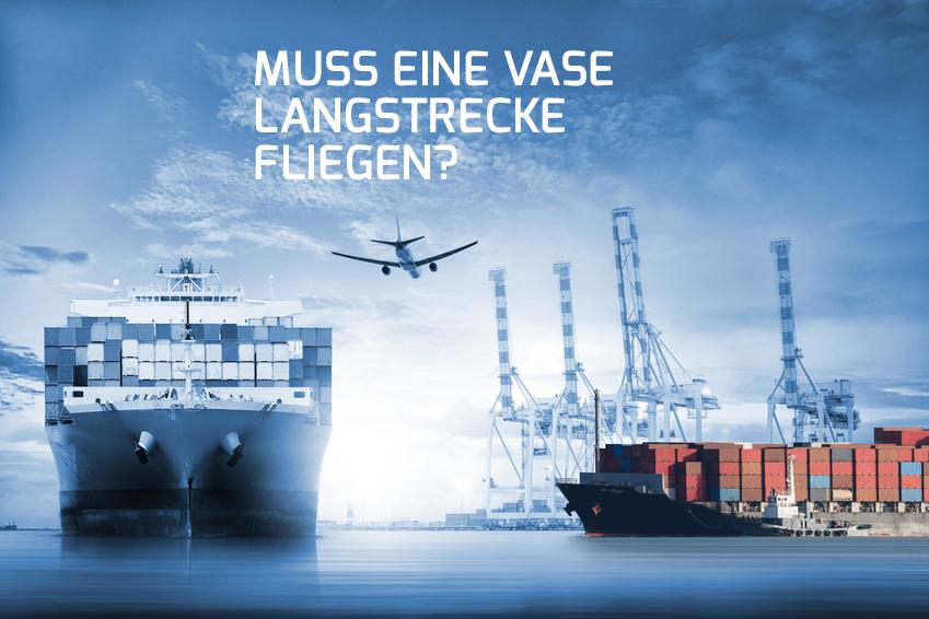 Globale Transportwege - NahGEMACHT bietet regionale Wohnaccessoires