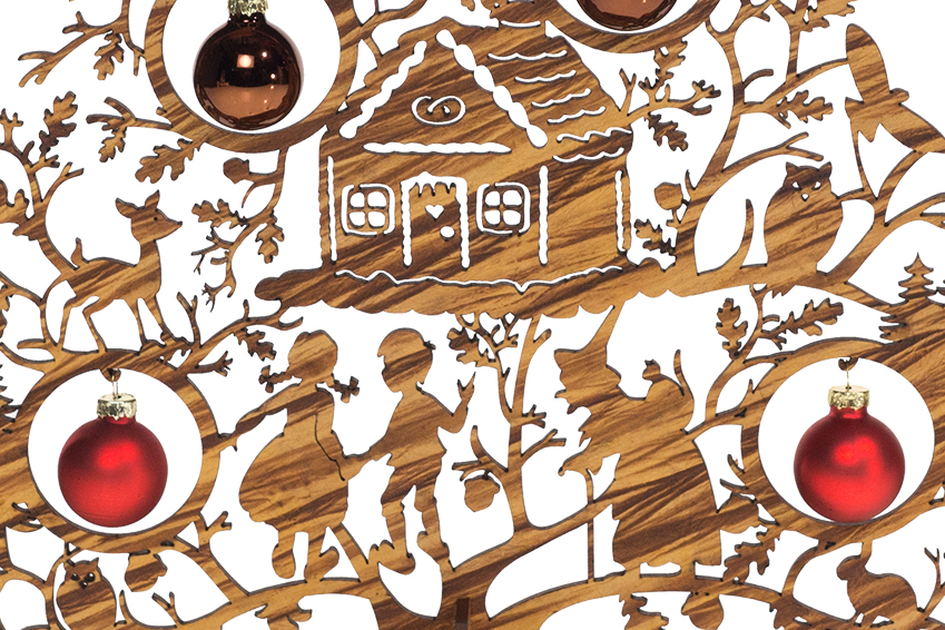 Ausschnitt Weihnachtsschmuck Hänsel un Gretel