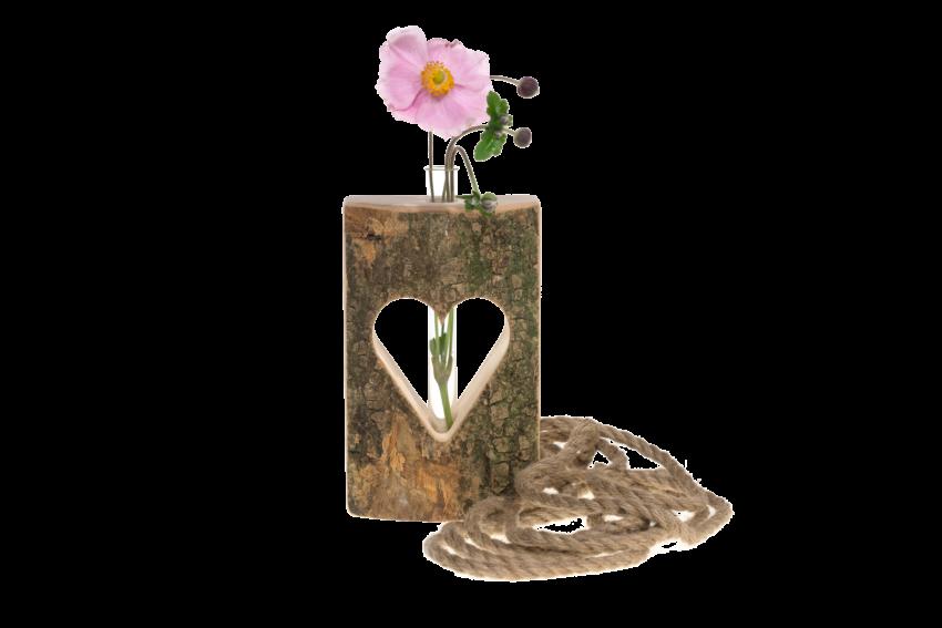 Herzvase als Kleine Vase Tischdeko