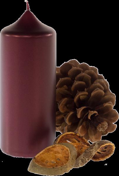 Weihnachtskerze Stumpenkerze - Weinrot