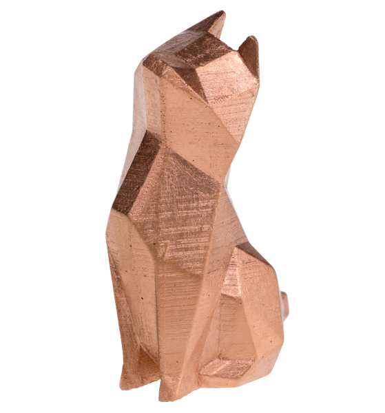 Skulptur Struppi Kupfer