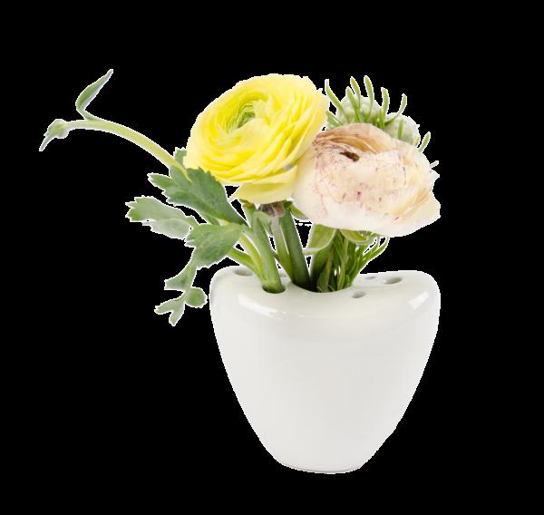 Porzellan Vase Herz