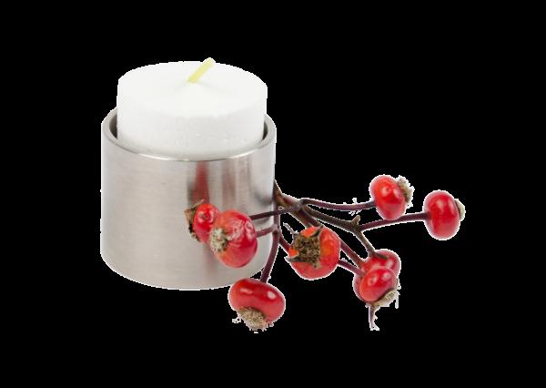 Teelichthalter Edelstahl klein