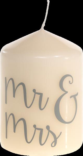Hochzeitskerze - Mr. & Mrs.
