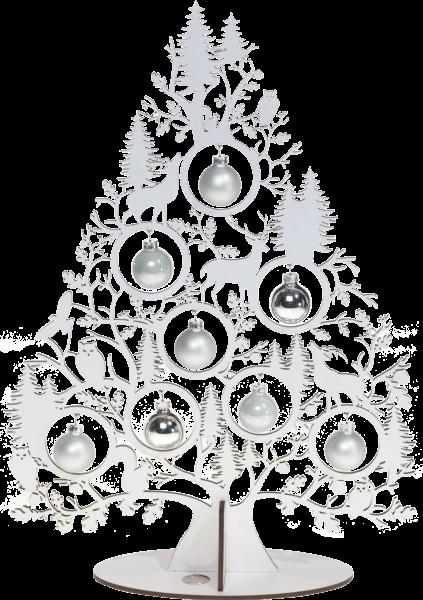 Tischweihnachtsbaum Wald - Weiß