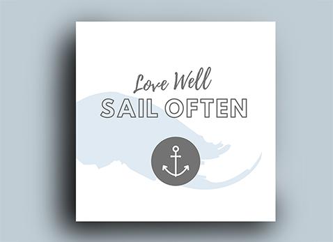 Print Holz - Sail Often