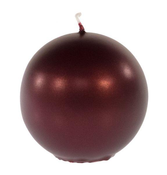 Weihnachtskerze Kugelkerze - Weinrot