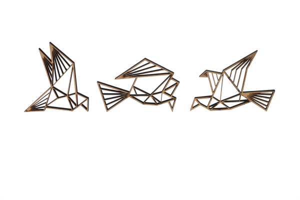 3-D Wandmotiv 3 Vögel - Natur