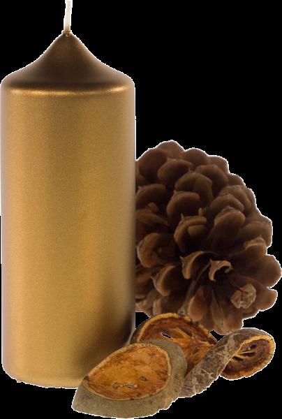 Weihnachtskerze Stumpenkerze - Gold