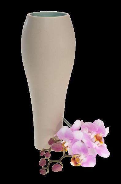 Keramik-Vase Knollenvase Olive-Grün