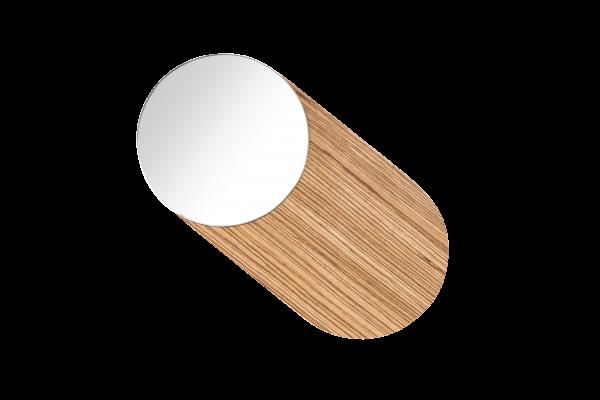Drehbarer Design-Wandspiegel Holz